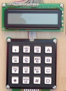 LCD and keypad